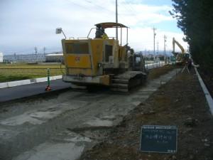 路床改良施工 スタビライザー使用